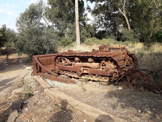 שרידי טנק בשמורת תל דן