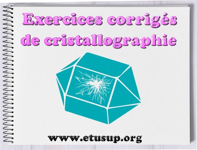 cristallographie exercices corrigés pdf