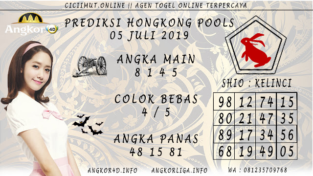 PREDIKSI HONGKONG POOLS 05 JULI 2019