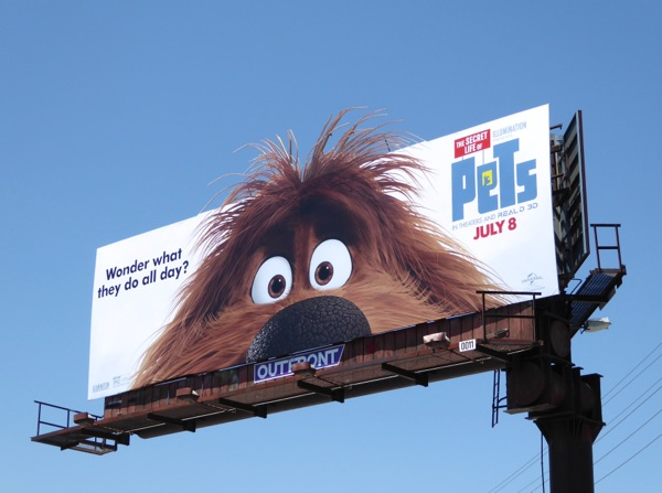 Secret Life of Pets Duke billboard
