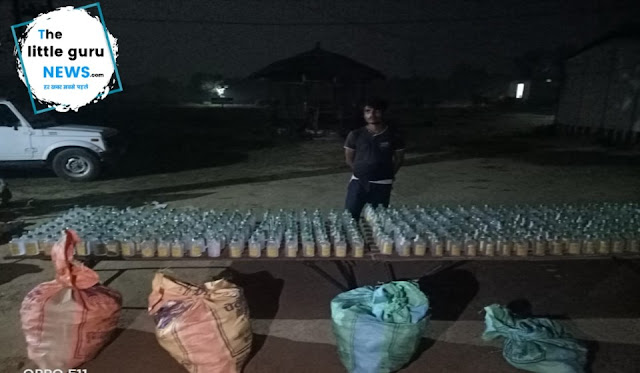 सीमावर्ती क्षेत्र से 720 बोतल नेपाली शराब के साथ एक युवक पकड़ाया