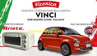 Logo Concorso '' Buitoni Pizza #Iconica '' : vinci fornetti Vintage Ariete e Fiat 500 serie 8 Hybrid