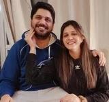 Isha Rikhi with her brother