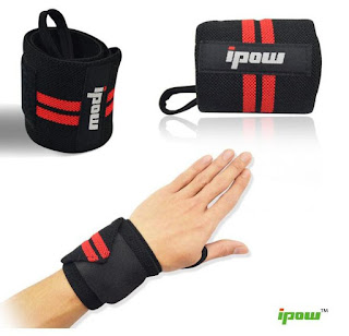 Ipow Adjustable Weight Lifting Training Wrist Straps