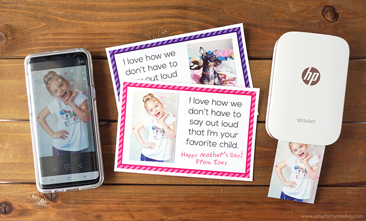 Free Printable Mother's Day Selfie Card