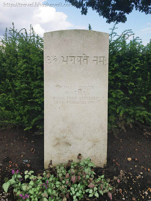 WWI Soldiers Indian Graves in Halle Communal Cemetery