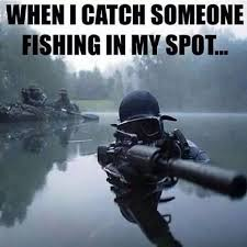 catching someone on my fishing spot