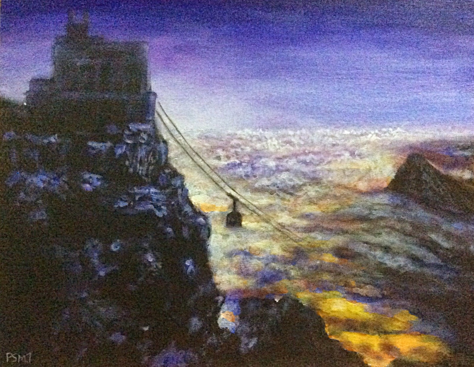 Acrylic painting done by a student , guided by Manju Panchal