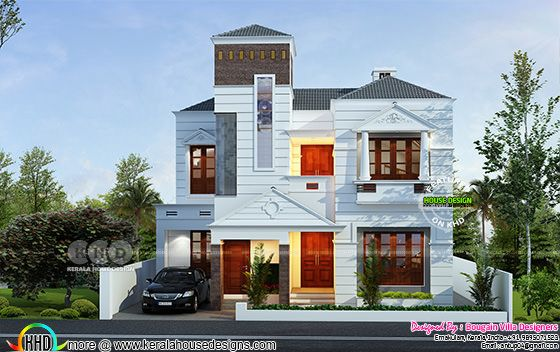 Duplex Kerala house 2900 sq.ft