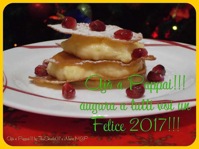 Immagine della ricetta Millefoglie di pane carasau con crema pasticcera alla vaniglia con auguri buon 2017