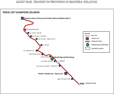 Lokasi Stasiun LRT Palembang