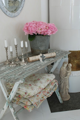 Shabby chic textile