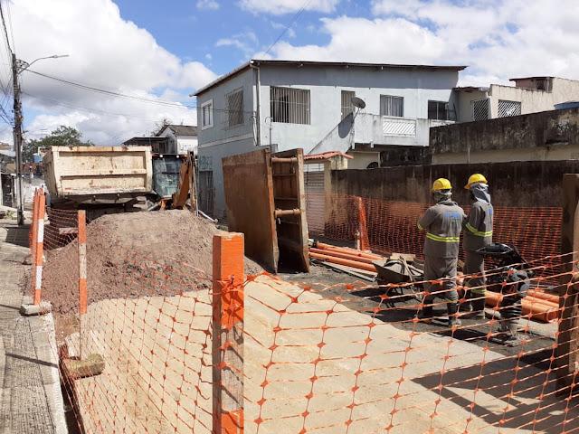 Primeira etapa de obras do sistema de esgotamento sanitário vai beneficiar 29 mil moradores no Cabo de Santo Agostinho
