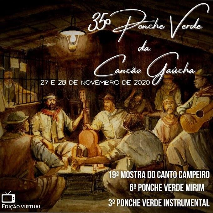 Músicas classificadas para o 35º Ponche Verde da Canção Gaúcha