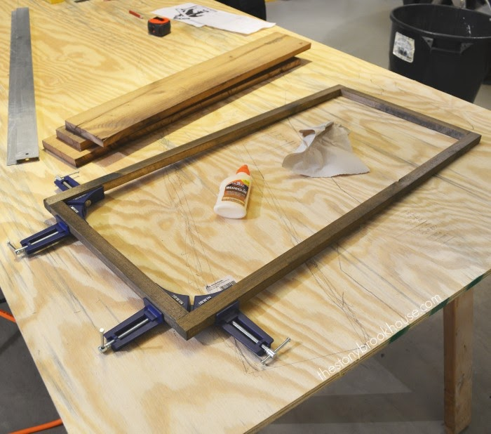 gluing frame together with corner clamps
