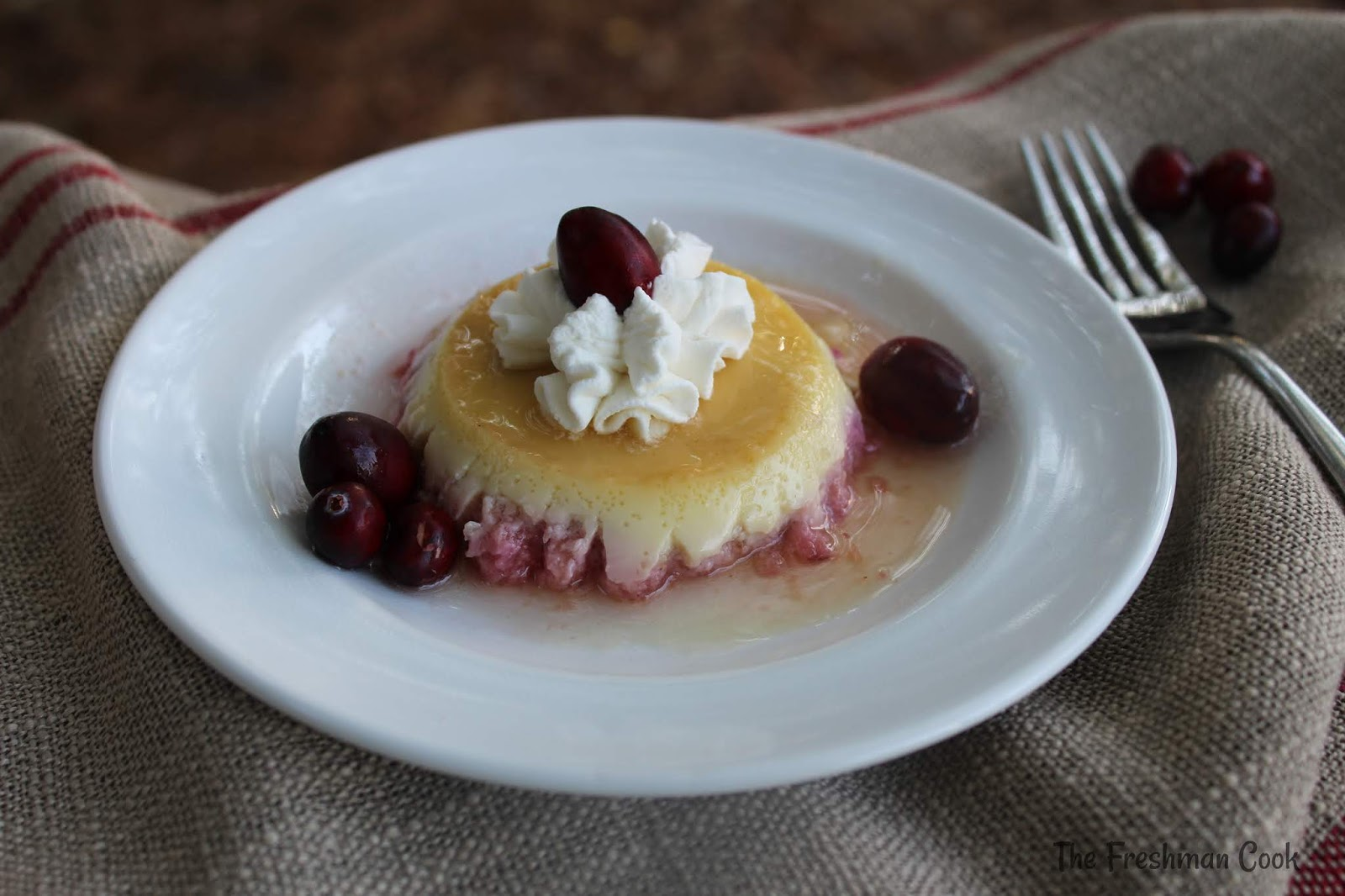 Cranberry Apple Flan