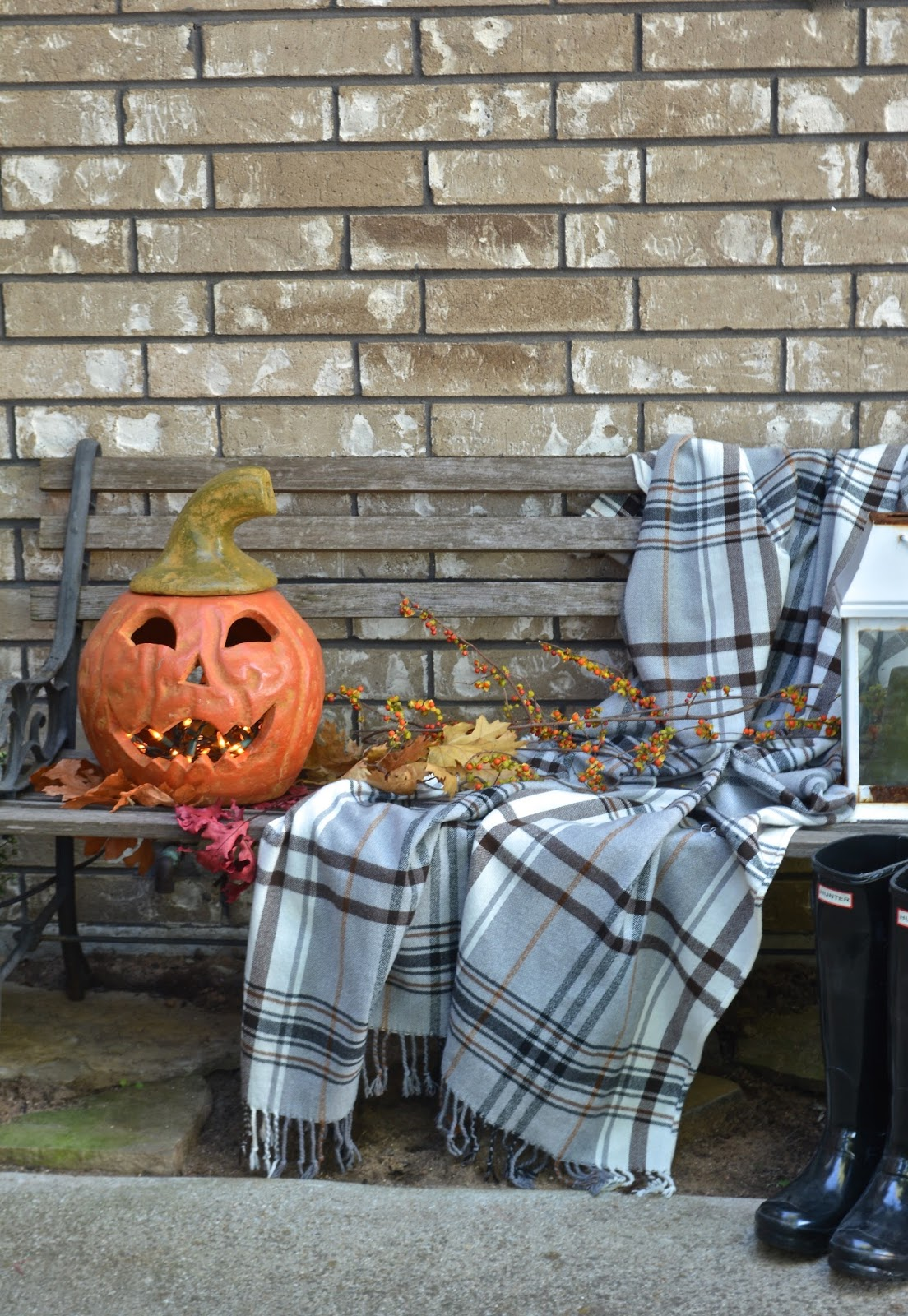 Hermine Throw,Jackolantern, Fall Porch display