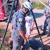 Animais são resgatados por bombeiros do 17º GBM após caírem em bueiro de cerca de dois metros