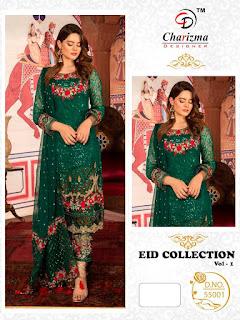 Charizma Eid Coleection 1 Georgette pakistani Suits wholesaler