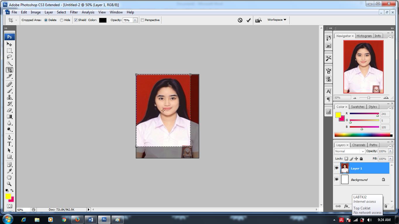 Cara Membuat Foto 3x4 Di Photoshop Cs3