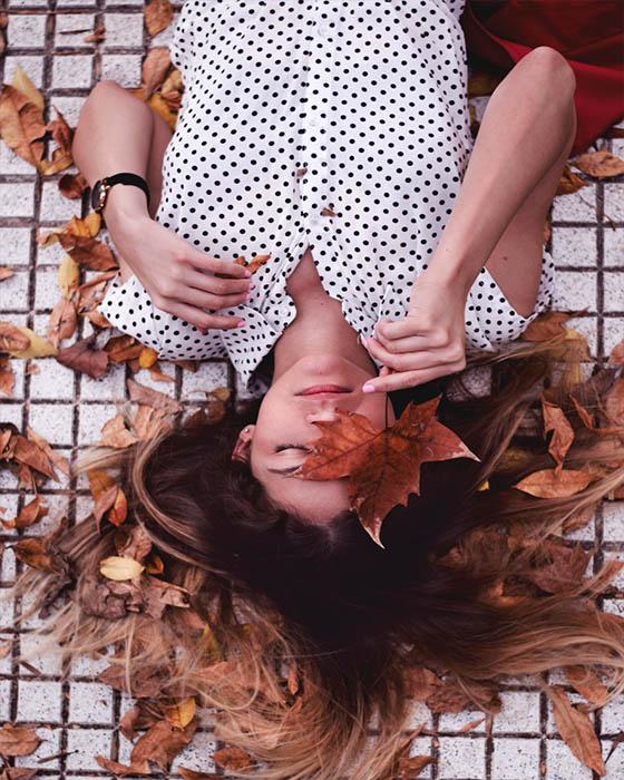 Poses tumblr hojas otoño