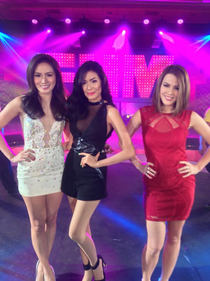 Arny Ross Roque, Myrtle Sarrosa, and this month's cover girl, Valeen Montenegro