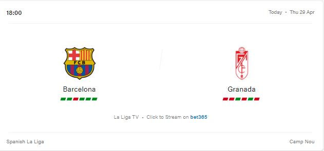 Barcelona vs Granada Preview, Livestream and Prediction 2021