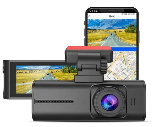 Blueskysea Dash Cam 4k 8MP WiFi Car Dashboard Camera