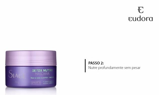 máscara de hidratação detox nutri