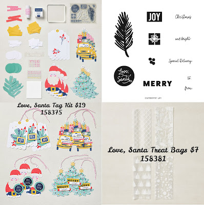 Love, Santa Tag Kit and Love, Santa Treat Bags by Stampin' Up!  #StampinUp #StampTherapist #LoveSanta