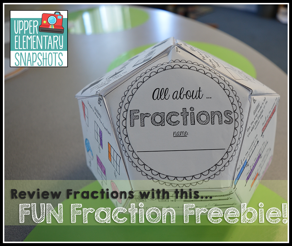 All About Fractions - a FREE dodecahedron project