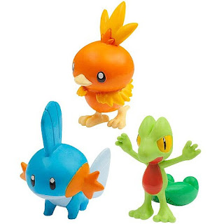 Takara Tomy figure Monster Collection 20th Anniversary Starter Set  Vol 3 Treecko, Torchic, Mudkip