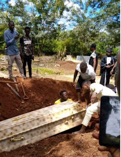Pictures of FUOYE University Student killed burial