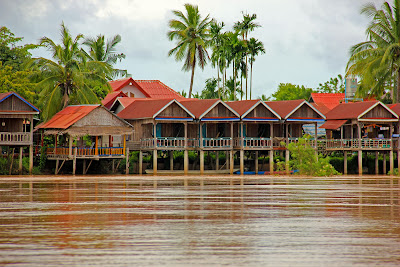 Accommodation in Si Phan Don Laos Mekong