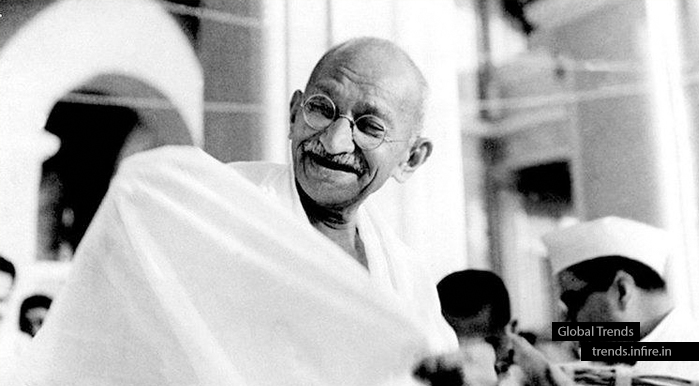 Mahatma Gandhi, the Father of the Nation of India