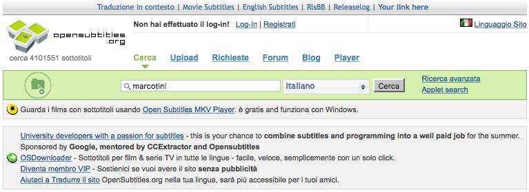 Come scaricare sottotitoli da OpenSubtitles con Raspberry Pi