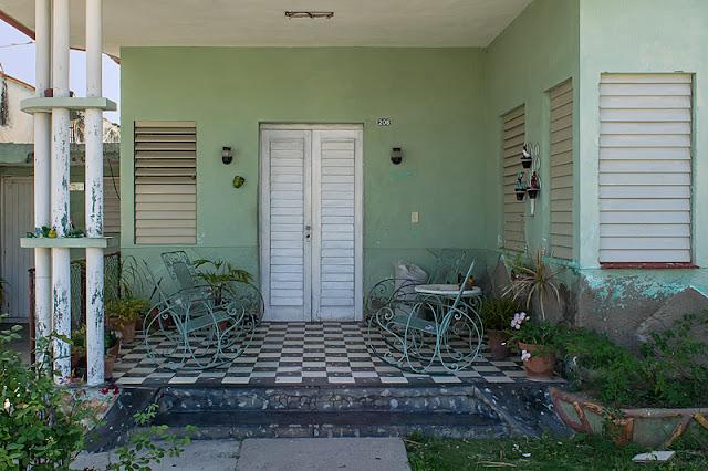 Porche d'une maison des années 1920 ou 1930 dans Punta Gorda