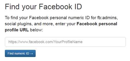 Cual es el id de mi facebook