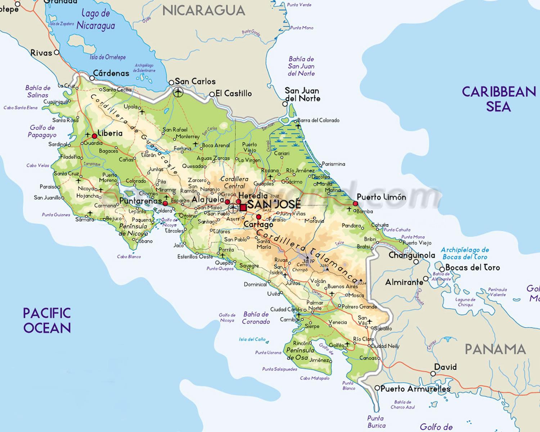 Mapas da Costa Rica