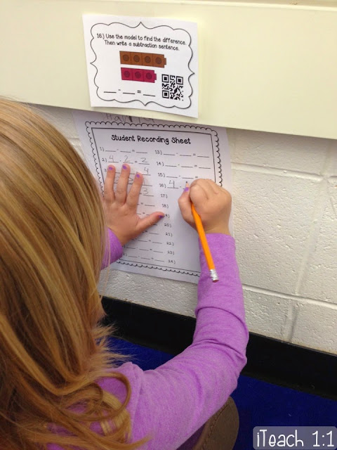 Hands-on, techie addition & subtraction practice.