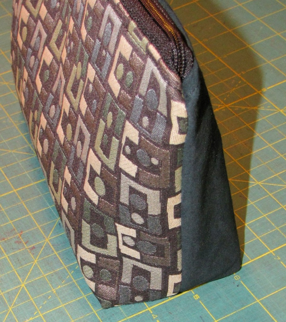 Zipper Pouch with gusset – Tutorial