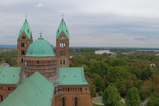 Speyer Cathedral Tower Rhine River