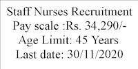 Staff Nurses Recruitment- 34,000 Salary
