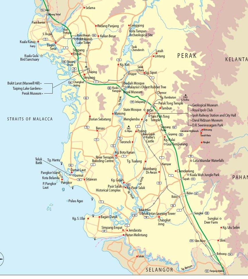 LAMAN GEOGRAFI ANDA: Peta Negeri Perak