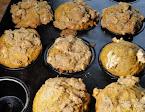 A muffin tin of pumpkin, walnut and date muffins