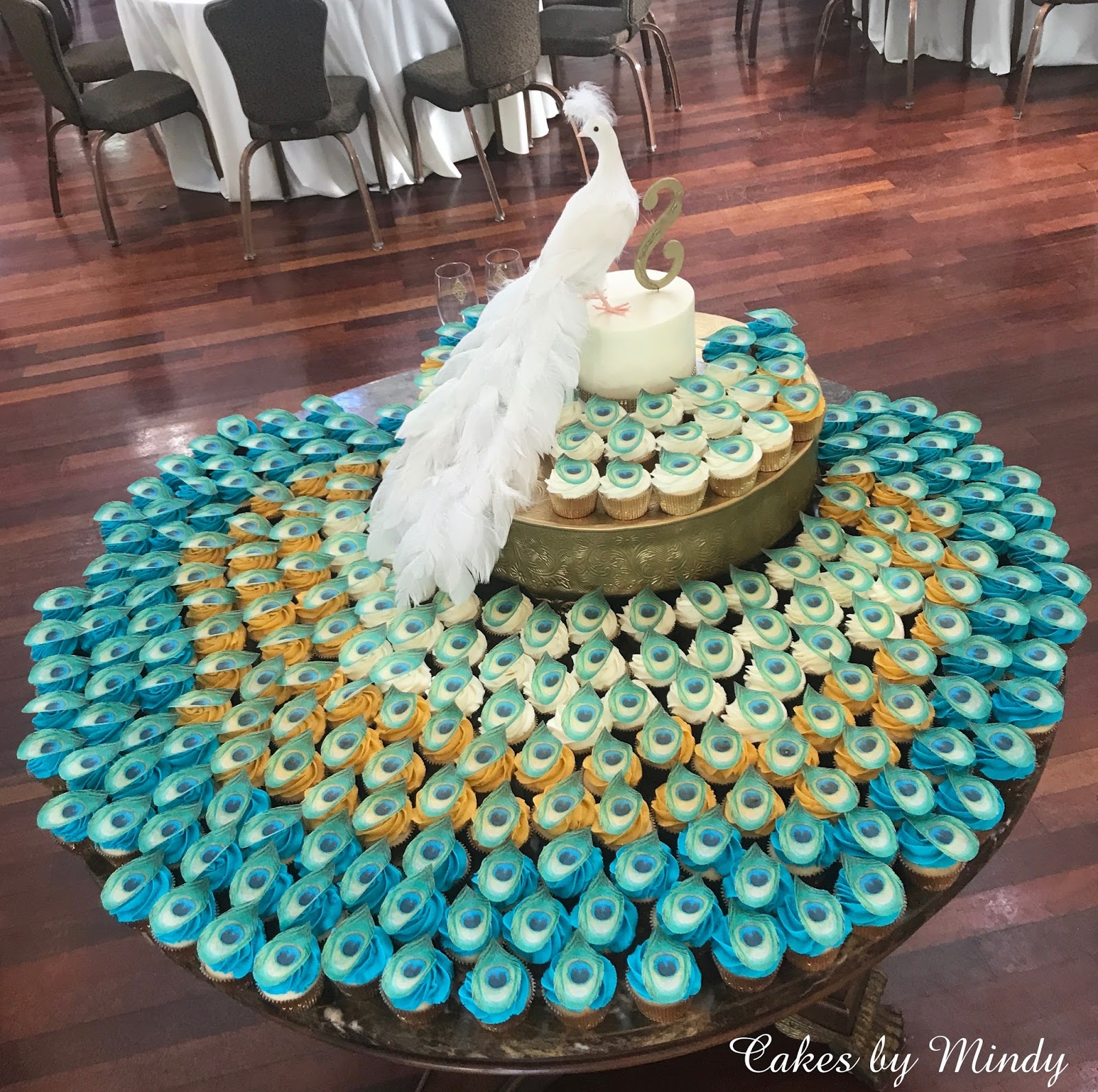 Cakes By Mindy Peacock Wedding Cupcakes With Edible Fleathers
