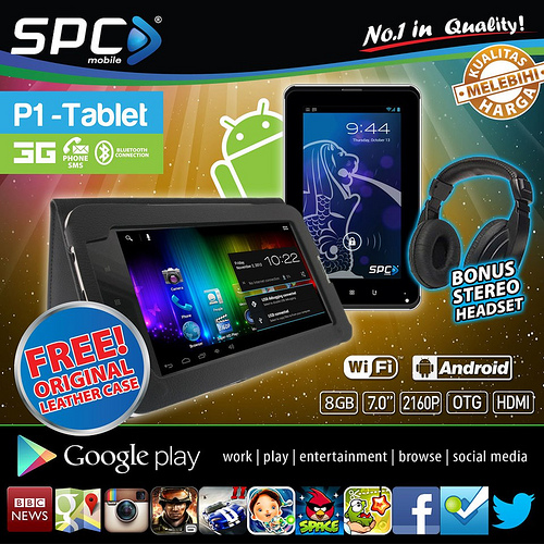 SPC P1 Fusion - Tablet ICS Dual SIM Dual-core Kamera 2MP Hanya  1,2 Jutaan