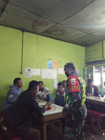 Edukasi Covid-19, Personel Jajaran Kodim 0207/Simalungun Himbau Pakai Masker Kepada Warga Binaan