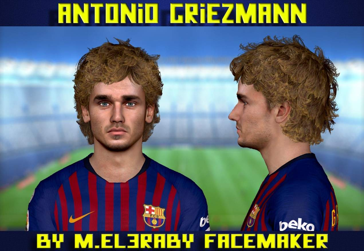 PES 2017 Griezmann Face by M.Elaraby Facemaker
