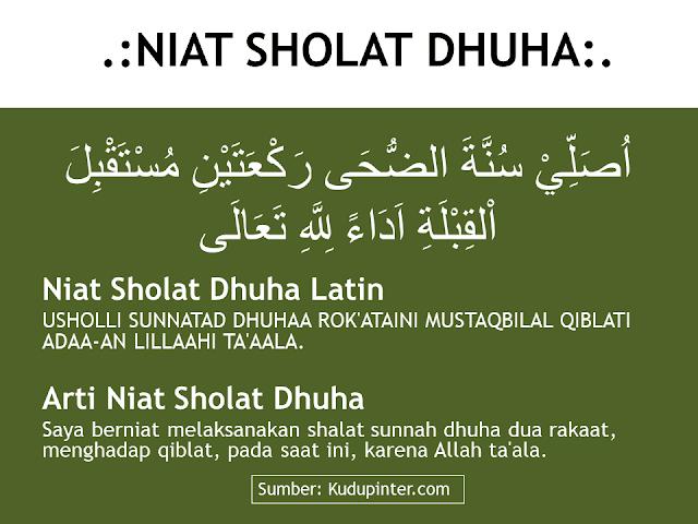 Niat Sholat Dhuha Arab, Latin, Terjemah, Artinya
